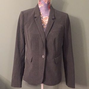 NWT The Limited Size 6 Gray Blazer One Button
